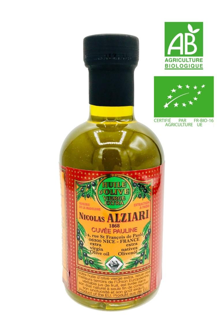 Huile d'olive Nicolas Alziari cuvée PAULINE 200 ML - Bio*