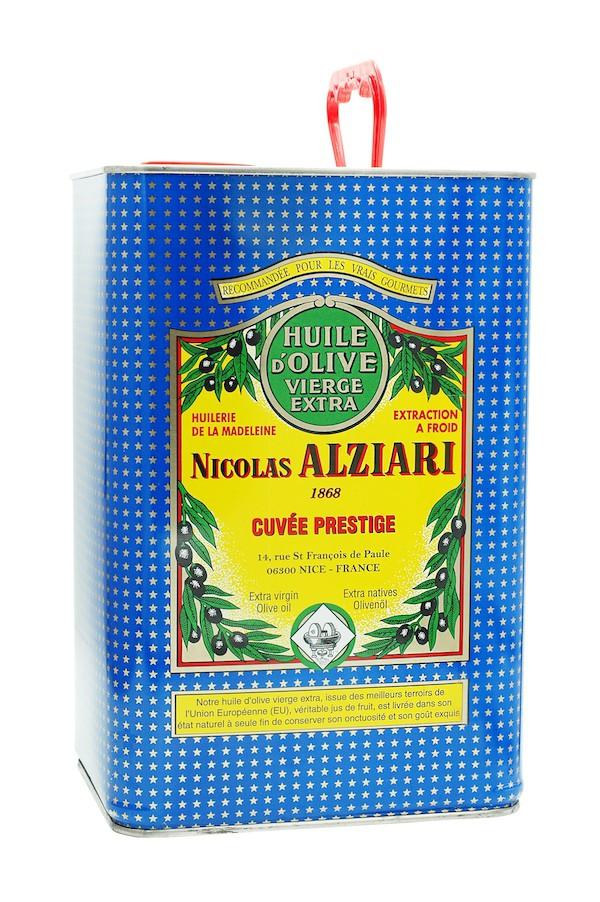 Huile d'olive Nicolas Alziari cuvée PRESTIGE 5 L