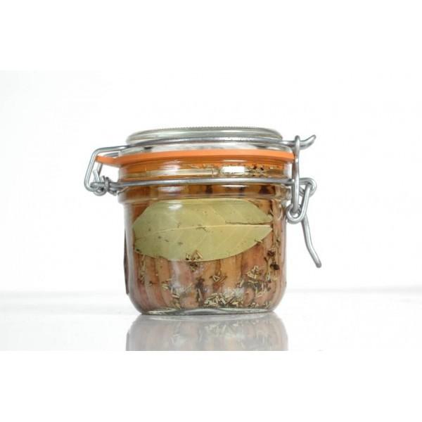 Vérrine de Filets d'Anchois à l'huile d'olive 130 gr net égoutté