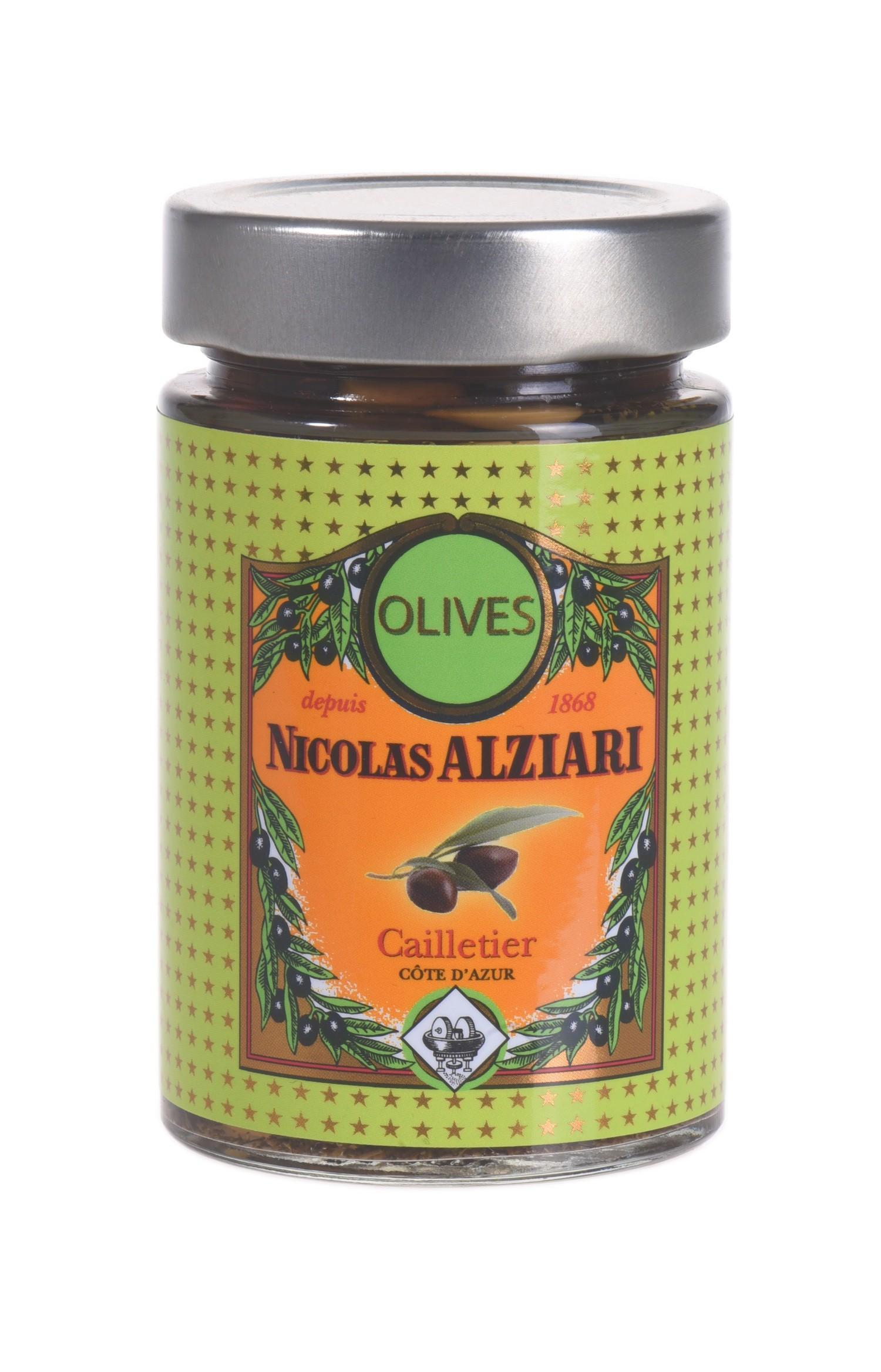 cadeau fidélité : Bocal d'olives cailletier 125 gr (Côte d'Azur)