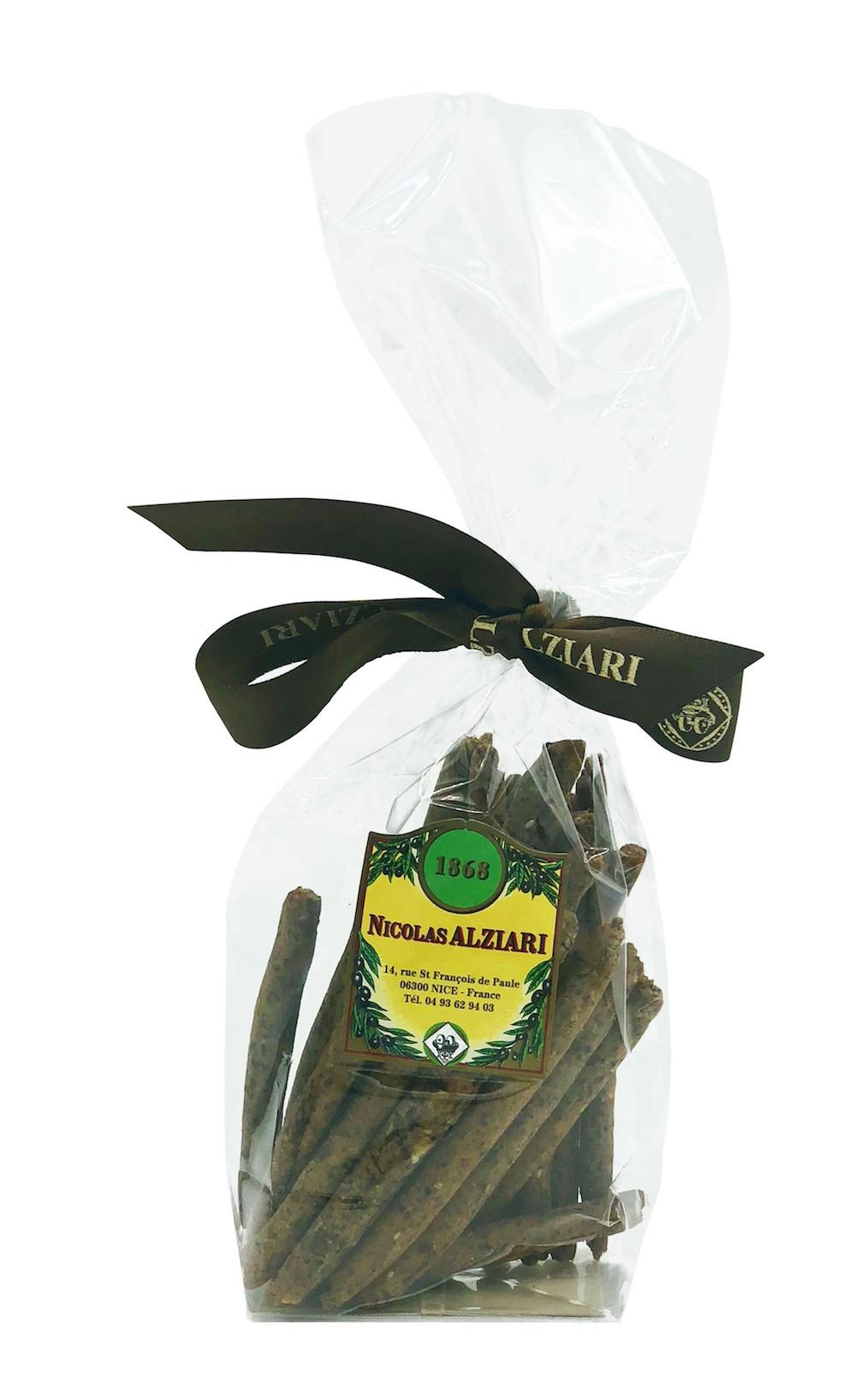 Mini Gressins à l'olive noire 75 gr
