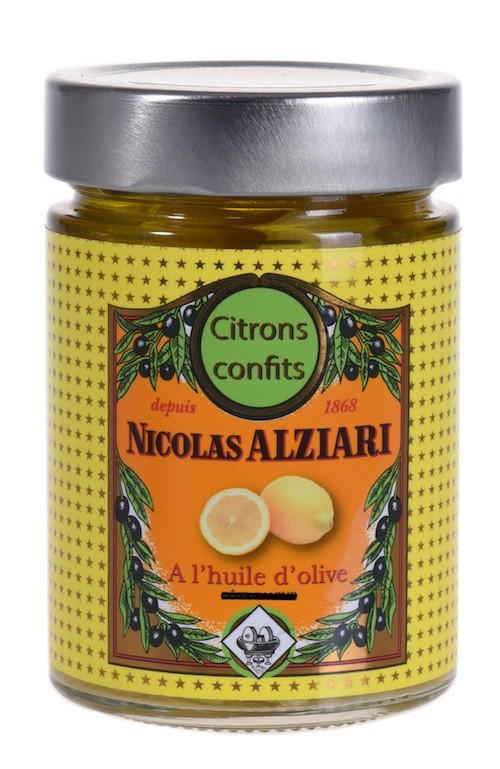 Citrons confits à l'huile d'olive 300 gr
