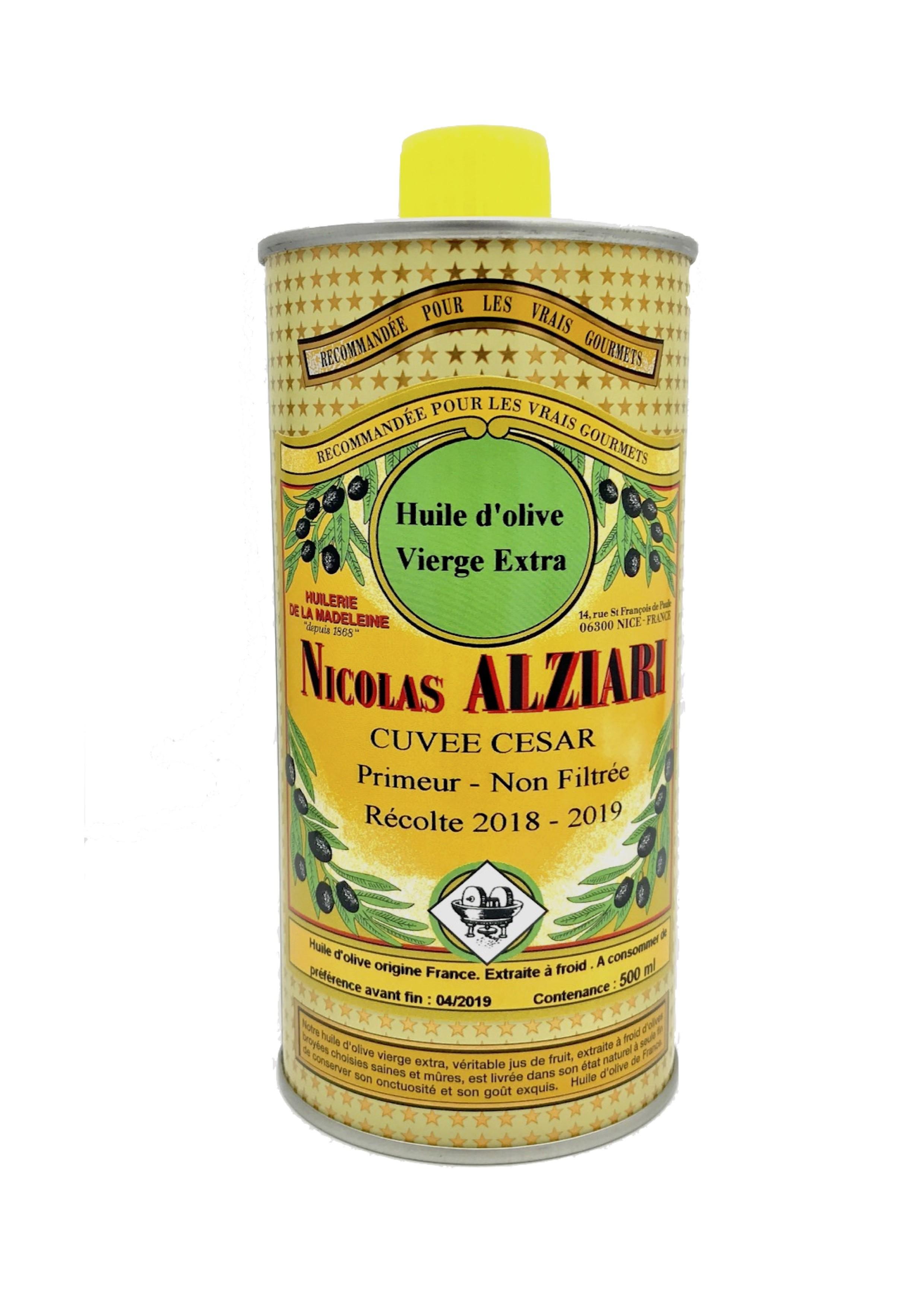 Huile d'olive Primeur non filtrée cuvée César 500 ml récolte 2018-2019 (trouble)