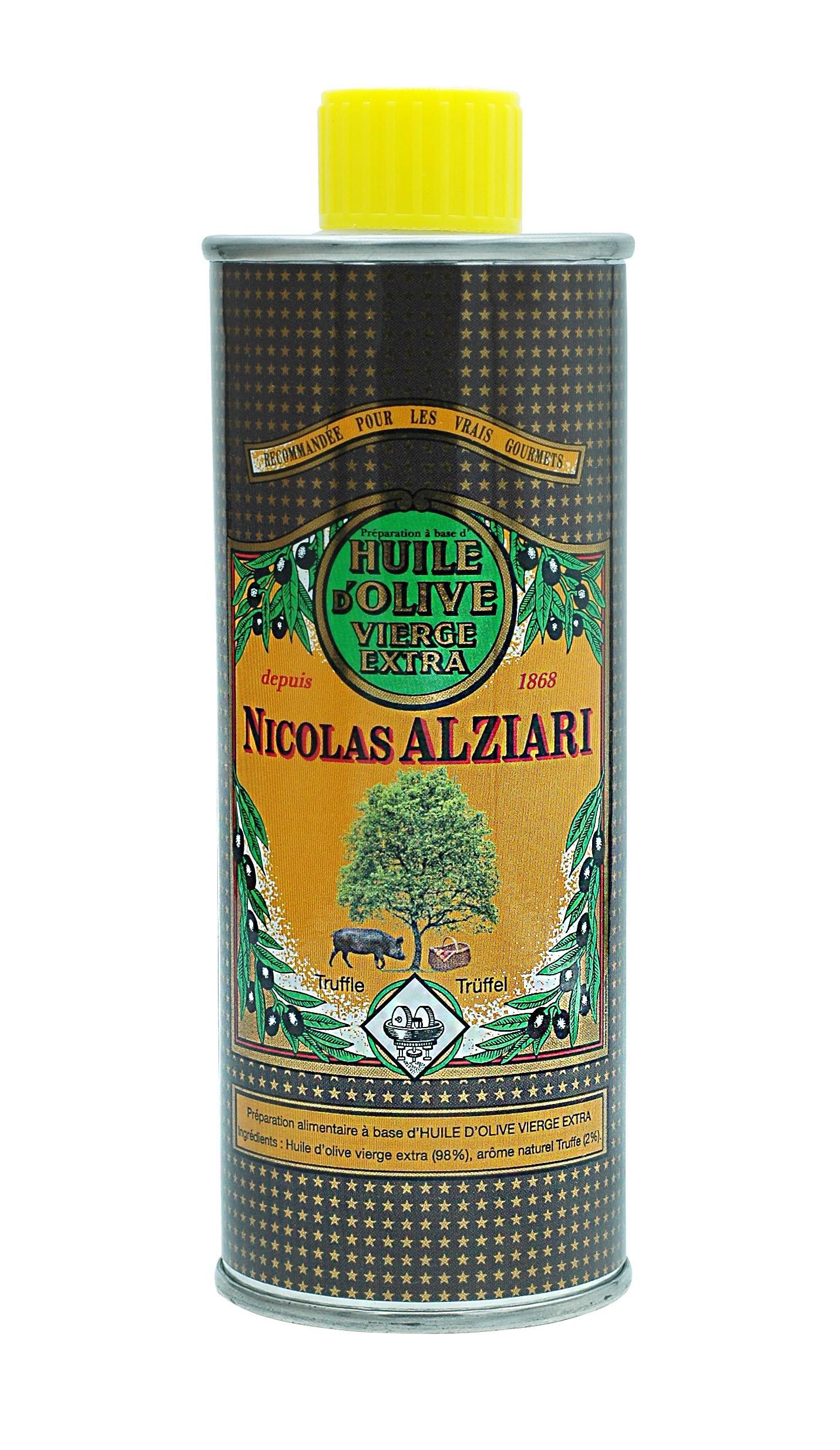 PRÉPARATION CULINAIRE Diamant Noir  250 ML (Huile d'olive vierge extra (98%) , Arome naturel Truffe (2%))