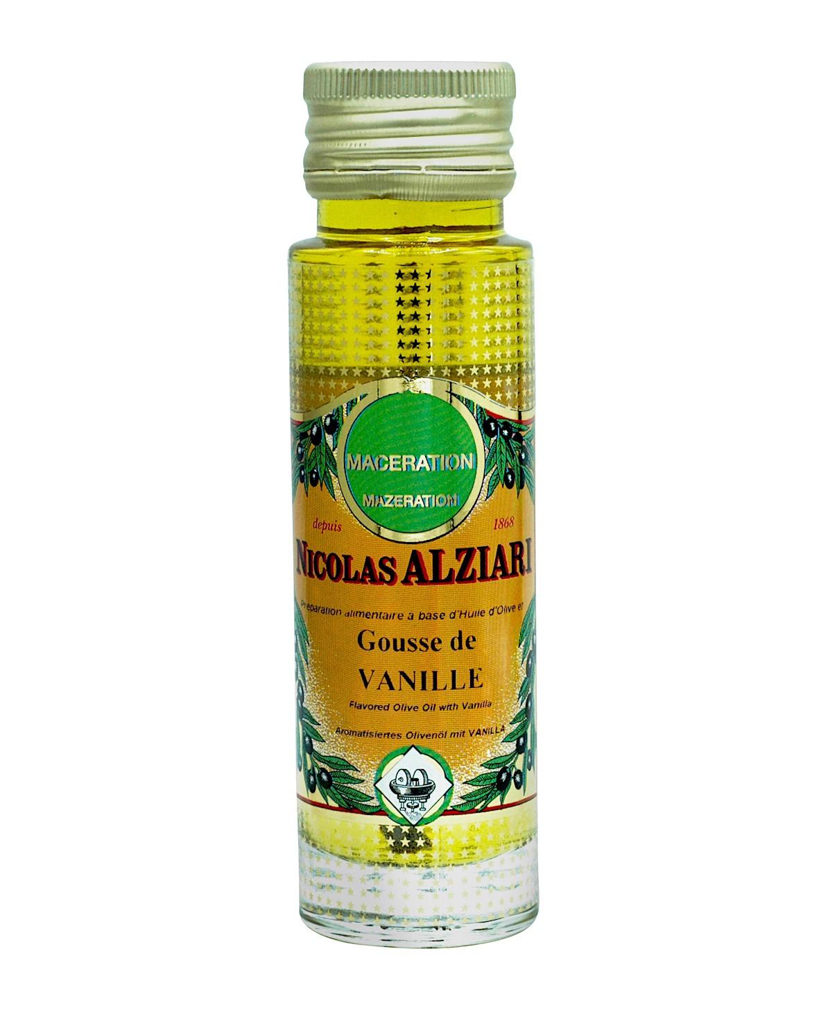 Préparation alimentaire à base d'huile d'olive et Vanille* 100 ml