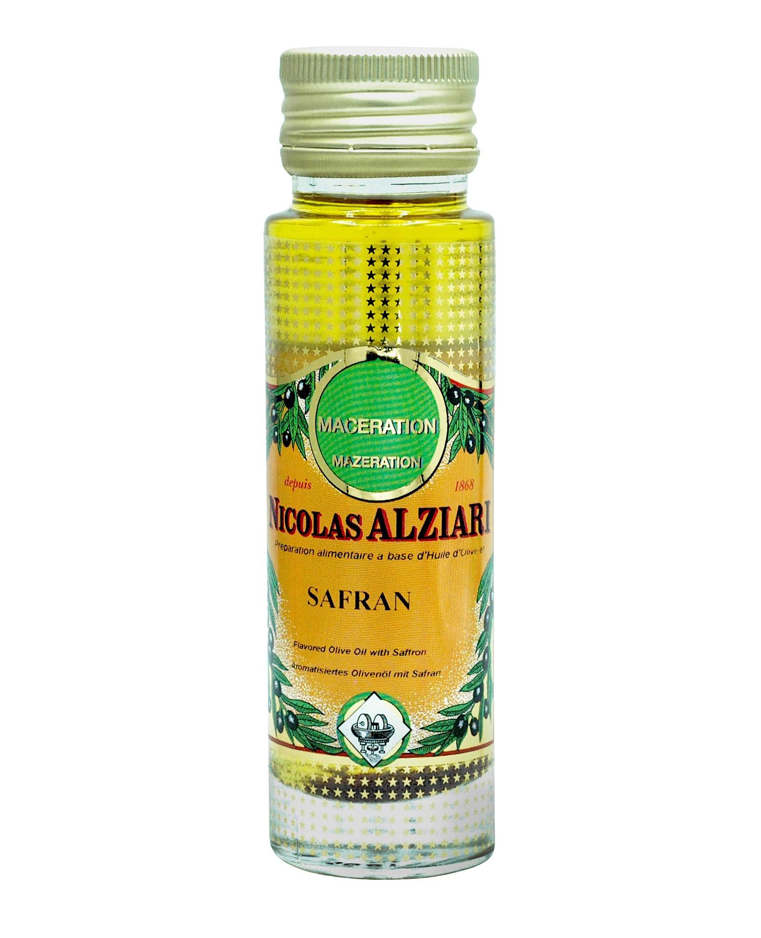 Préparation alimentaire à base d'huile d'olive et Safran 100 ml