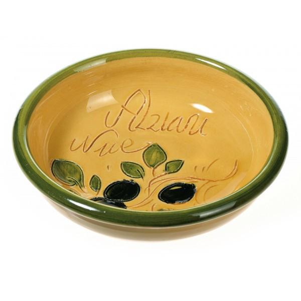 Coupelle à olives et noyaux Jaune(poterie de Vallauris)