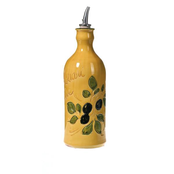 Huilier en poterie jaune de Vallauris 23 cm