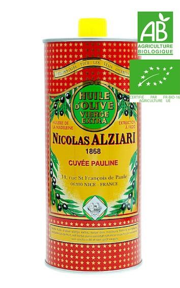 Huile d'olive Nicolas Alziari cuvée PAULINE 1 L - Bio*