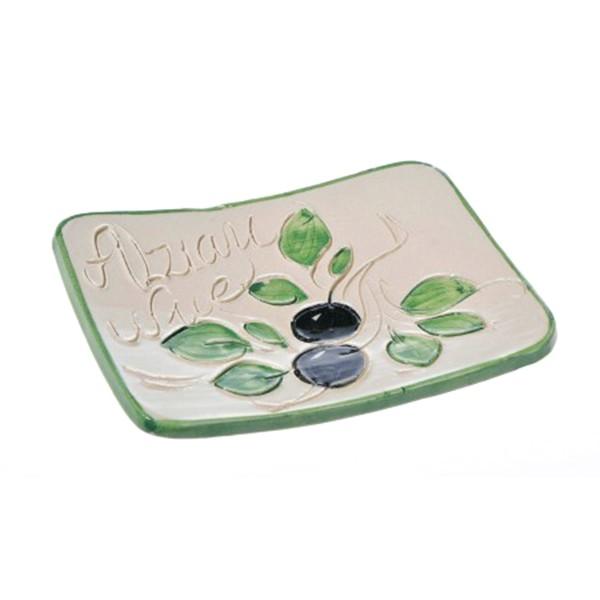 Petite coupelle pose savon blanche (poterie de Vallauris)