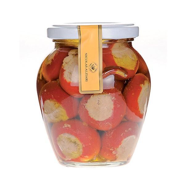 Piments farcis , Thon & Huile d'olive. 280 gr
