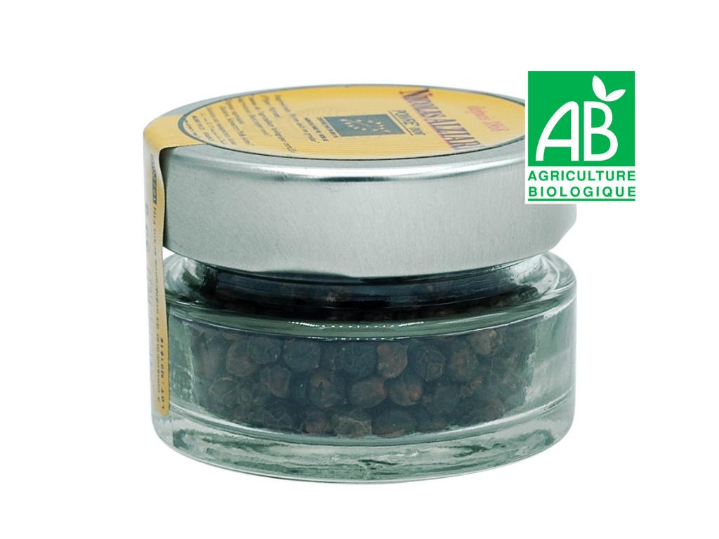 Poivre noir BIO en grain pot 30g