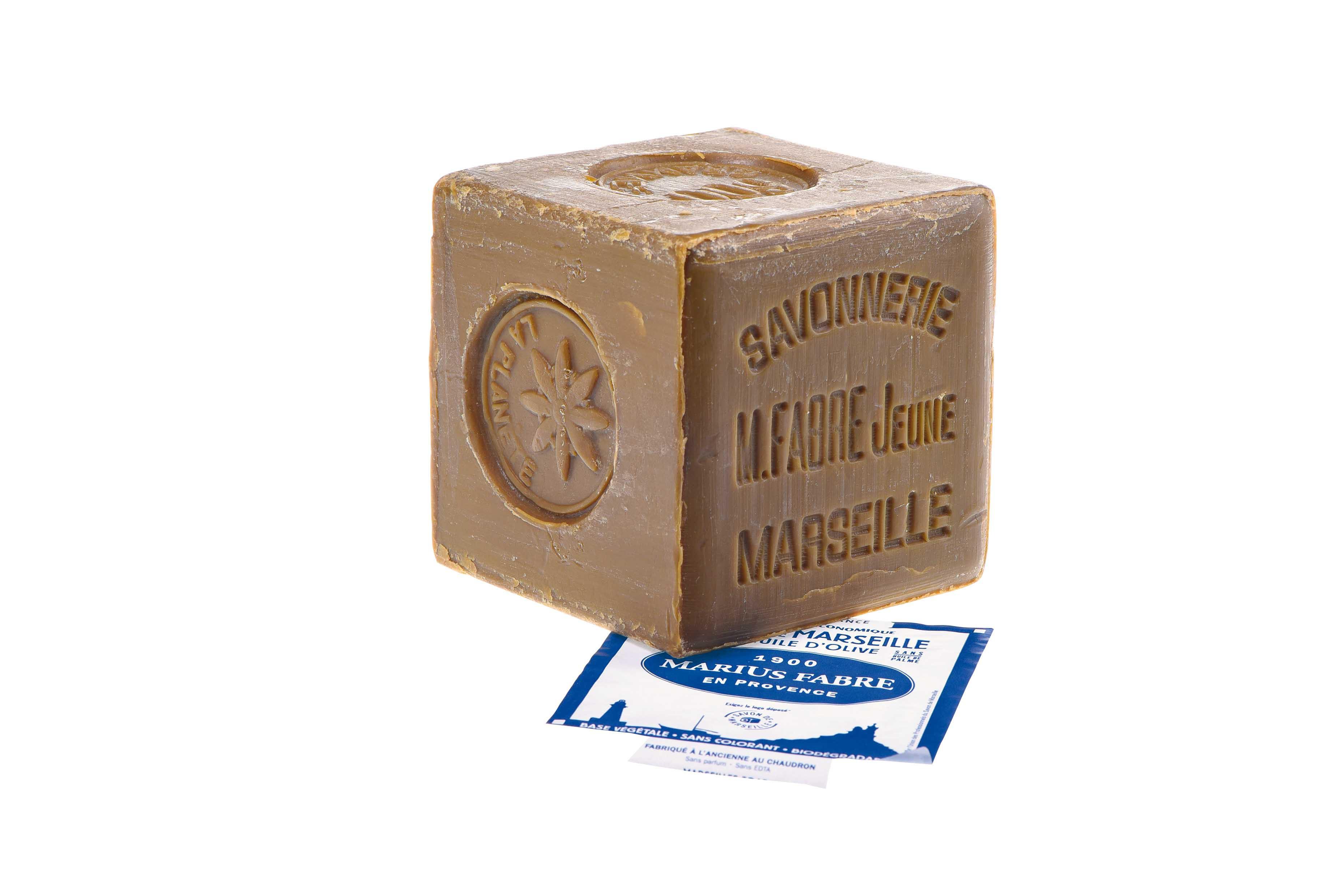 Savon de Marseille Marius Fabre  à l'huile d'olive 600 gr