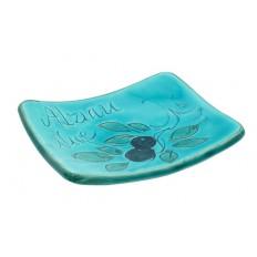 Petite coupelle pose savon Turquoise (poterie de Vallauris)