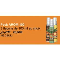 PACK AROM 100 : 3 flacons au choix sur cette page = -11% !