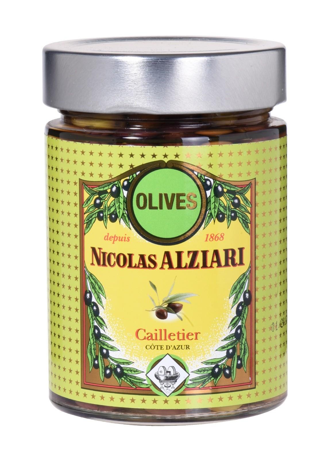 Bocal d'olives cailletier 220 gr (Côte d'Azur)
