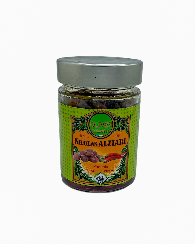 Bocal olives Tailladées: huile, piment 180 g