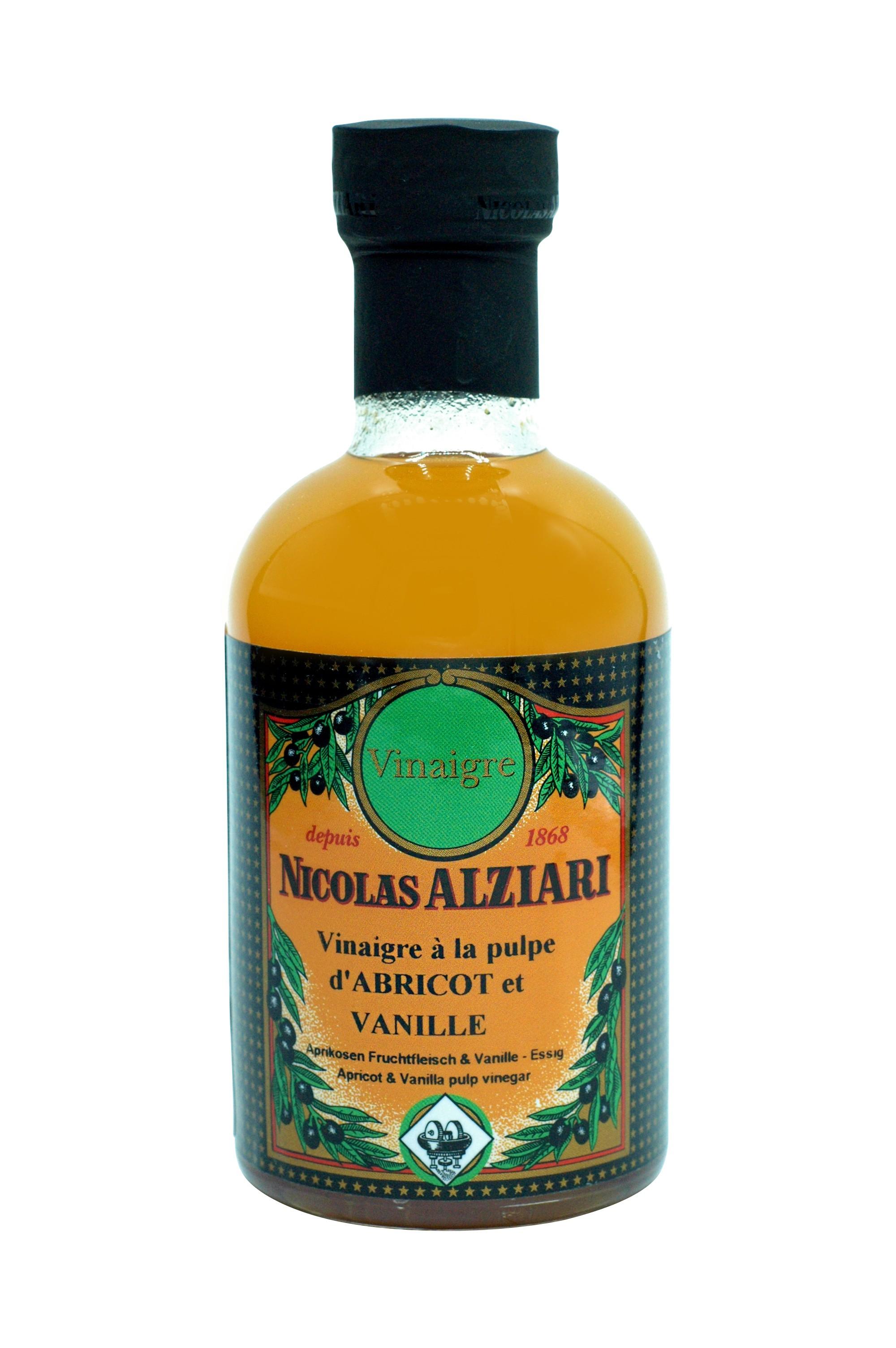 vinaigre à la pulpe d'abricot et vanille 200 ml