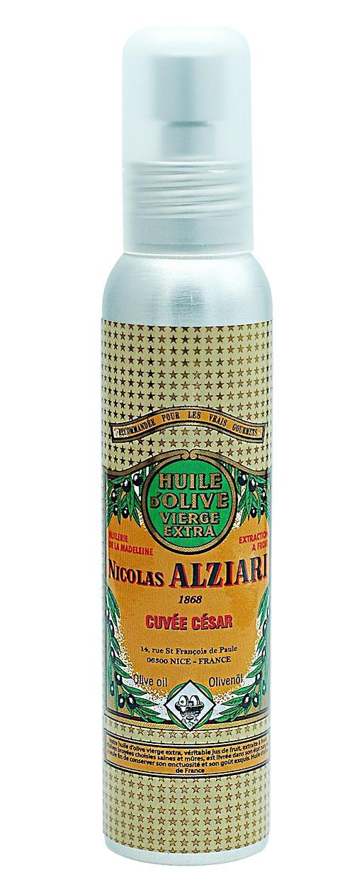 Huile d'olive Nicolas Alziari cuvée César - 100 ml (flacon pompe) AOP Nice