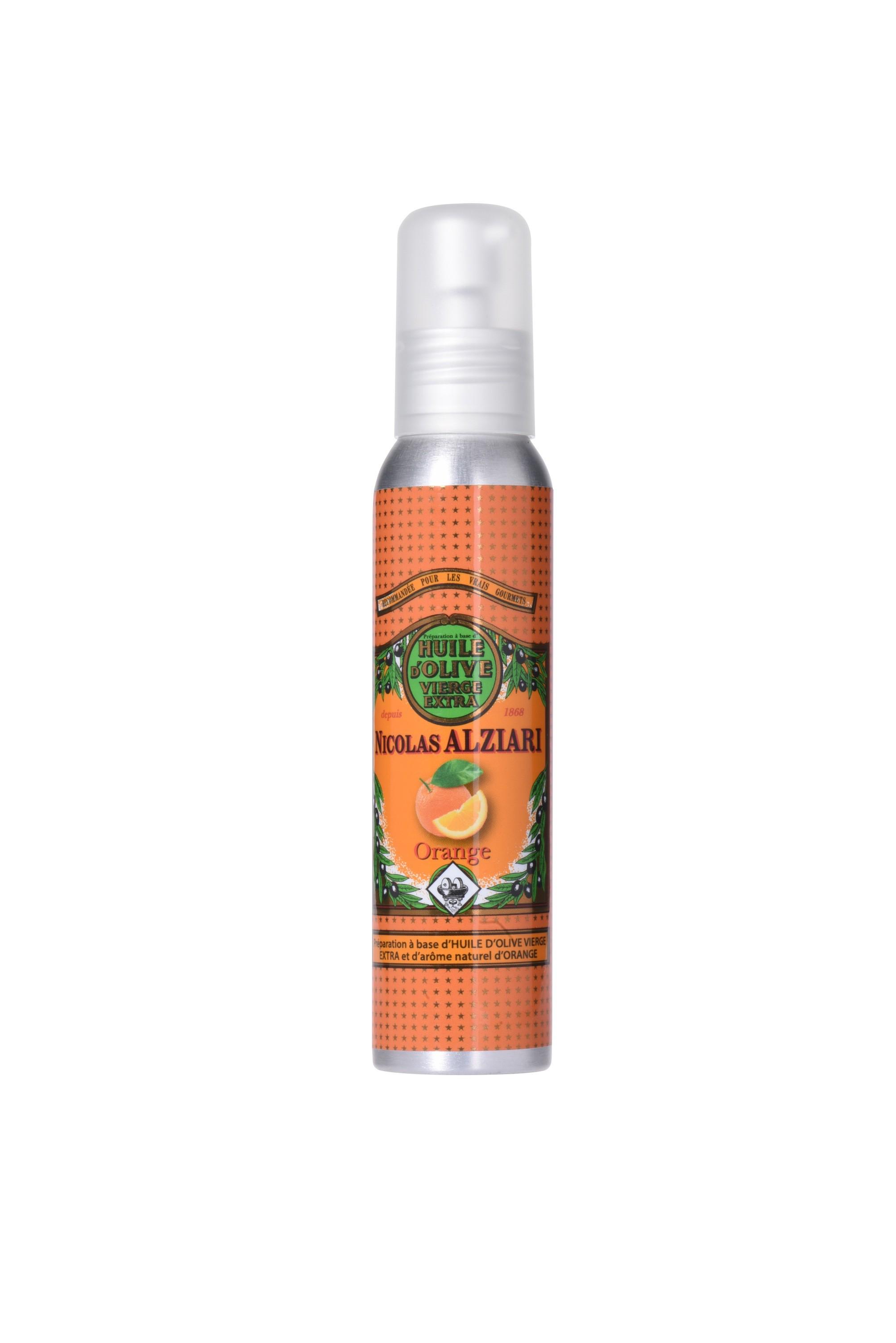 ORANGE - Préparation culinaire à base d'huile d'olive et d'arôme naturel ORANGE 100 ML (flacon pompe)