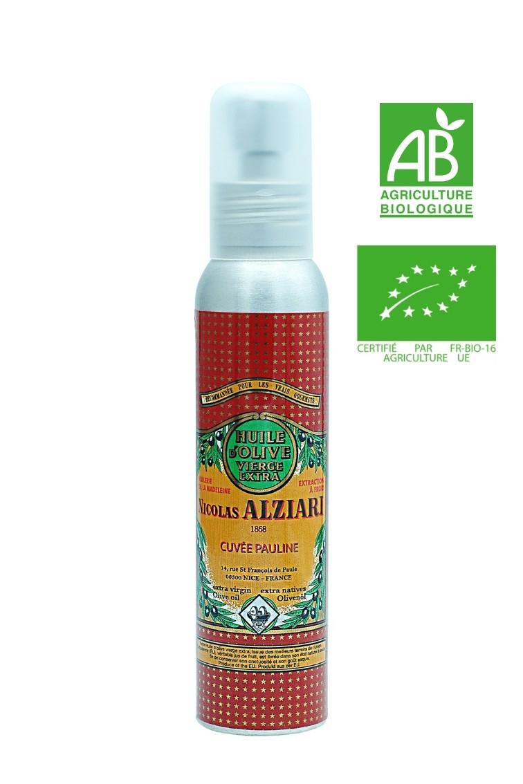 Huile d'olive Nicolas Alziari cuvée PAULINE 100 ml (Flacon Pompe) - Bio*