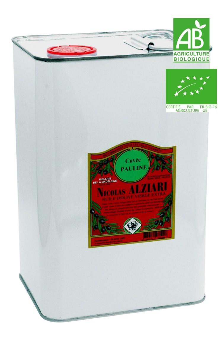 huile d'olive Nicolas Alziari cuvée PAULINE 5 L - Bio*
