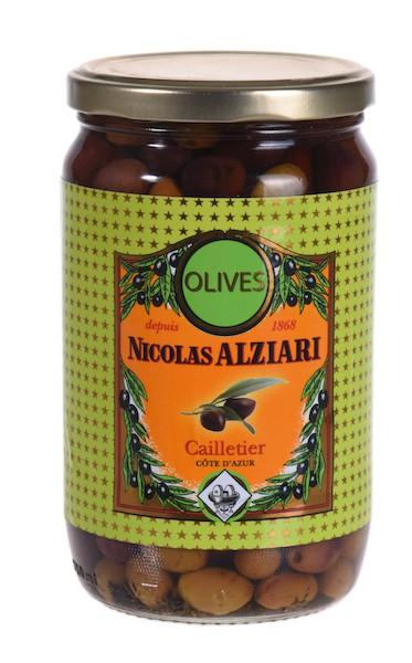 Bocal d'olives Cailletier 480g (Côte d'Azur)