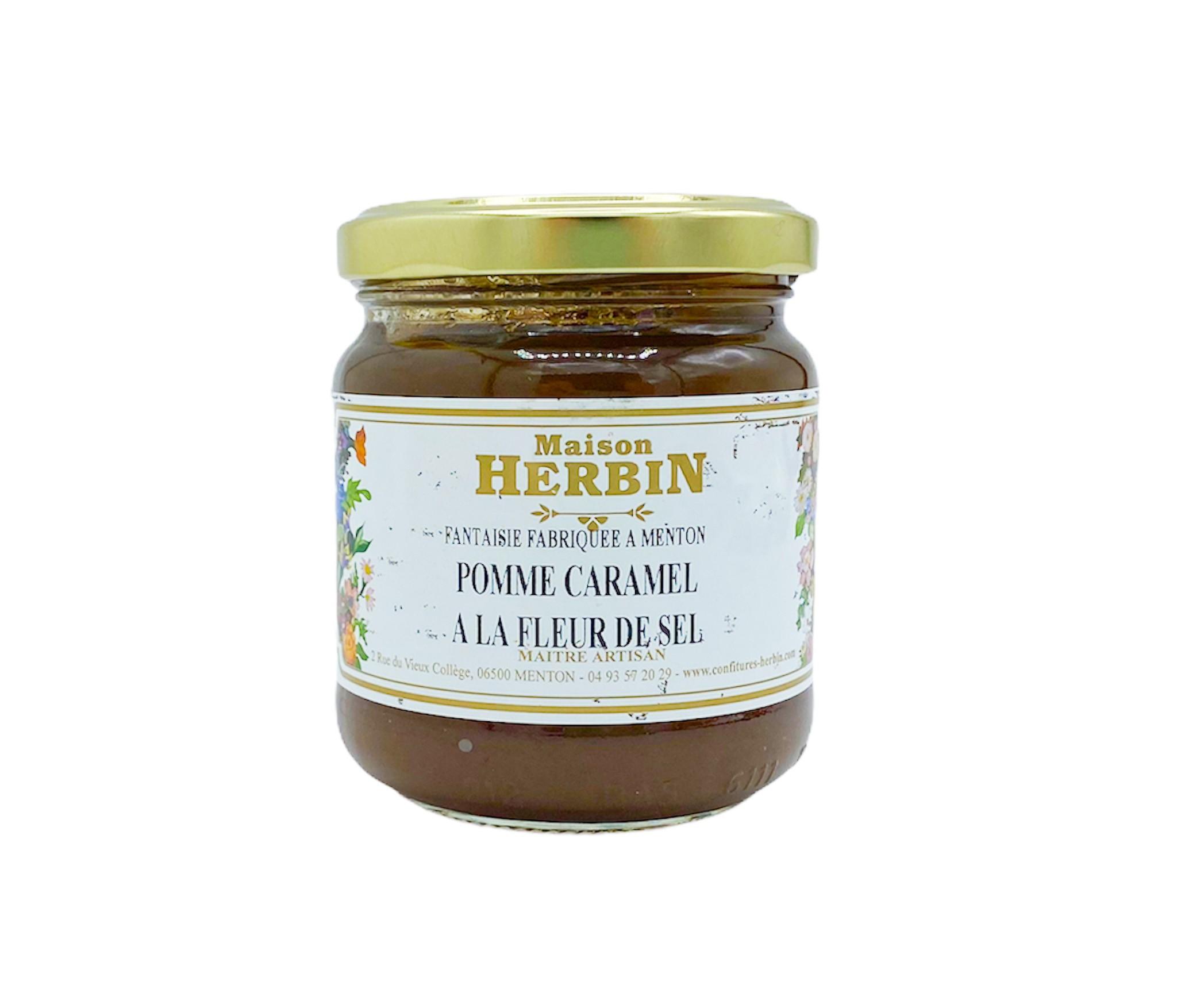 Confiture Pomme Caramel à la fleur de sel 230g