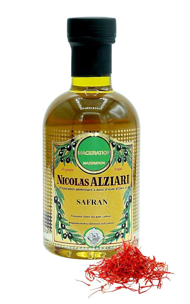 Préparation alimentaire à base d'huile d'olive et Safran 200 ml