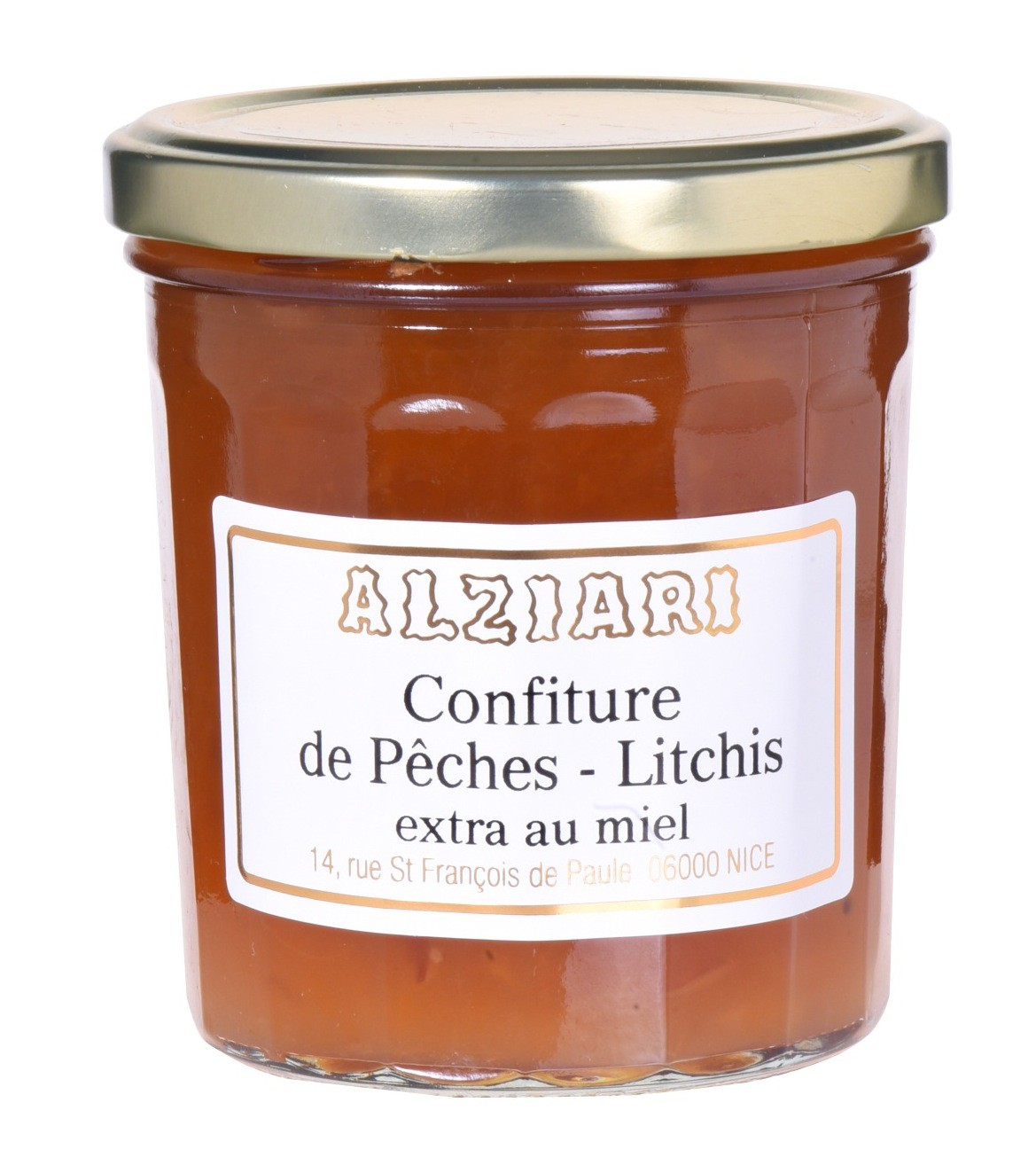Confiture Peches-Litchis 375gr