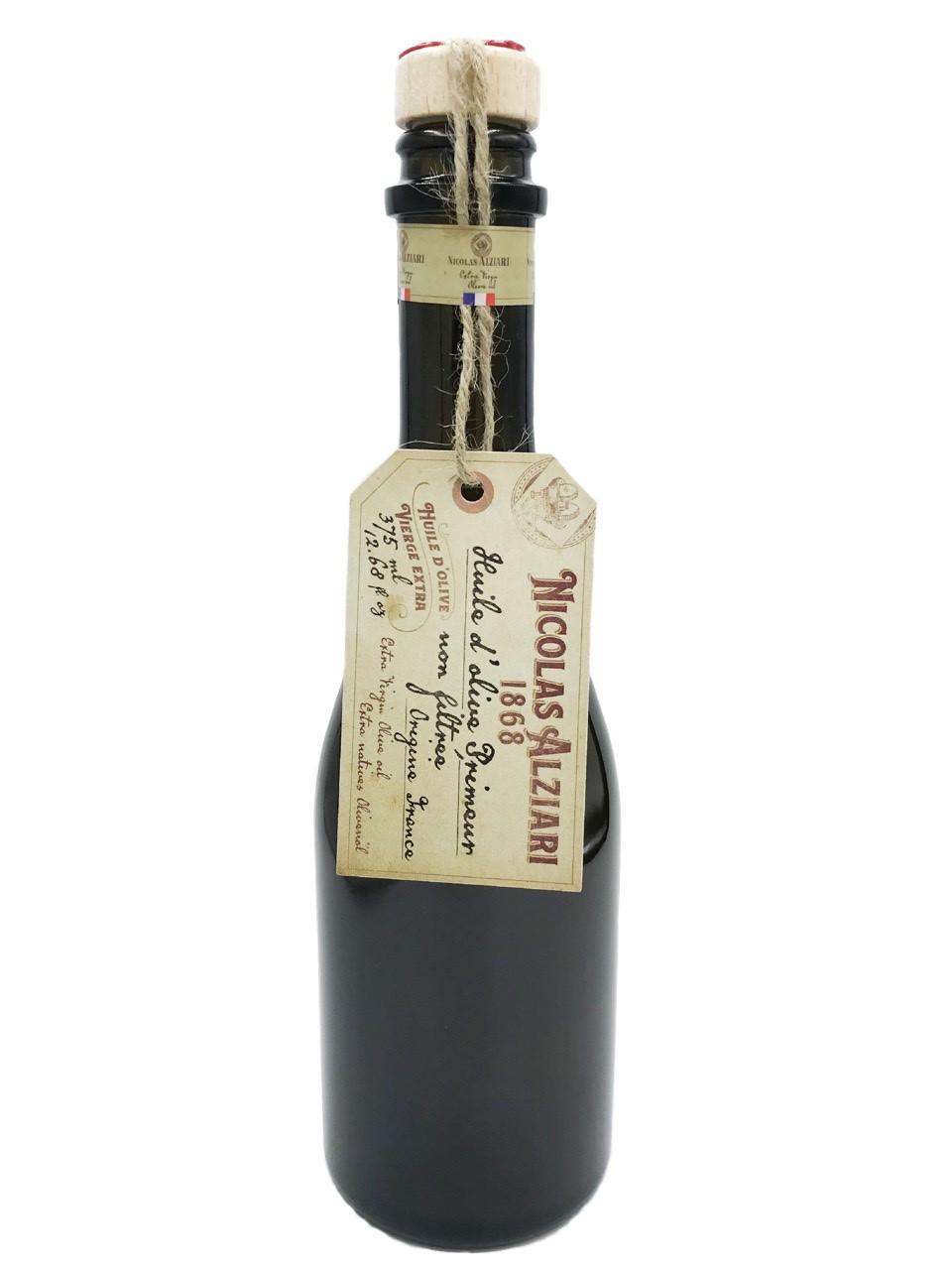 Huile d'olive primeur non filtrée 375 ml (bouteille club) récolte 2019 - Nicolas Alziari