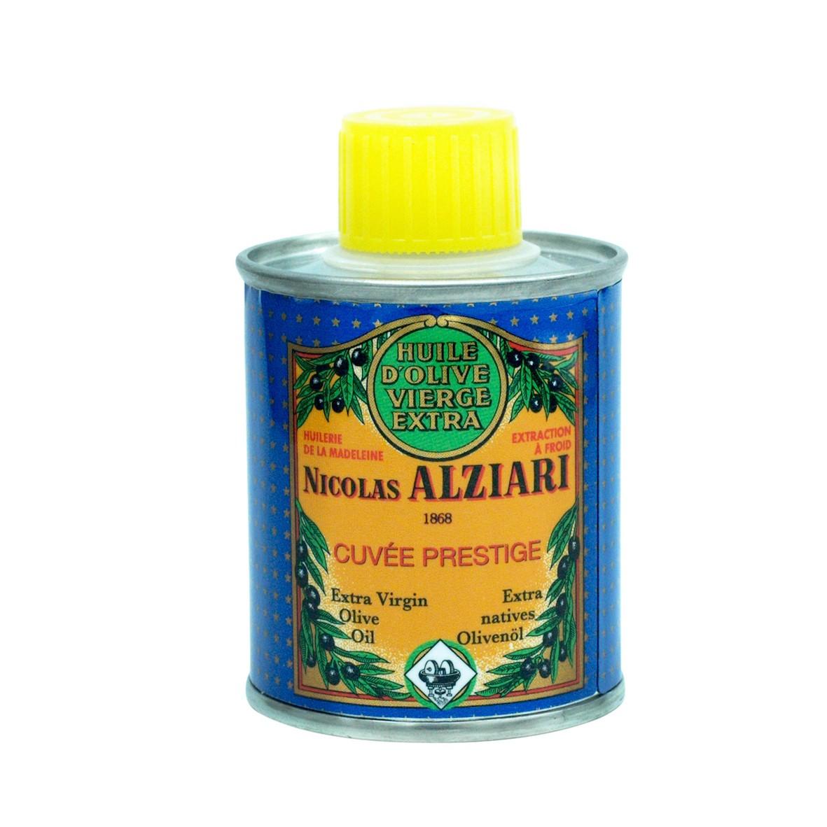 Huile d'olive Nicolas Alziari cuvée PRESTIGE - 100 ml (BIDON)
