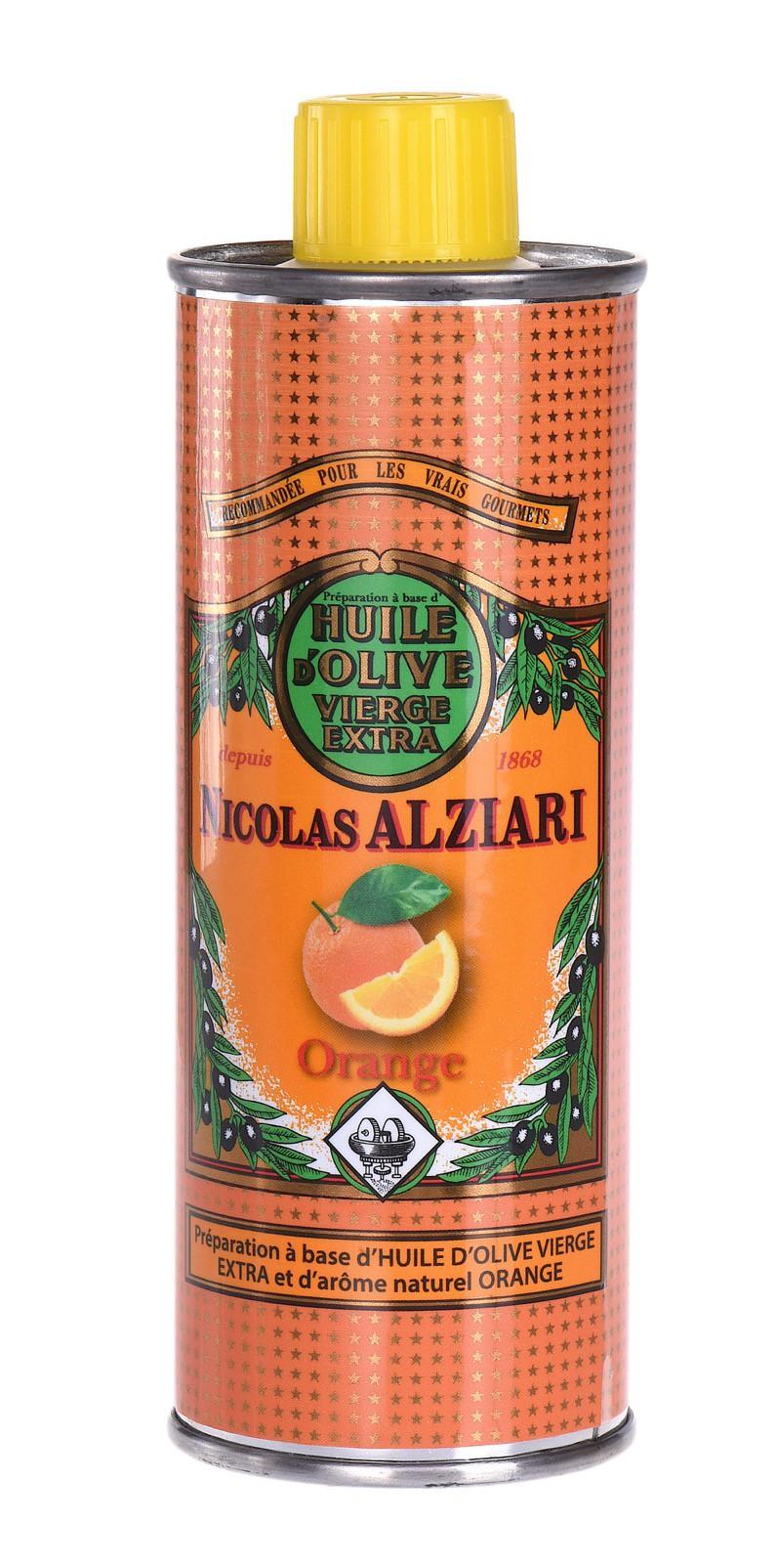 Orange - PRÉPARATION CULINAIRE À BASE D'HUILE D'OLIVE ET D'ARÔME Orange 250 ML