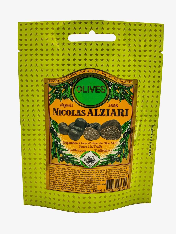 Olives de Nice AOP + Sauce TRUFFE 60 g en sachet