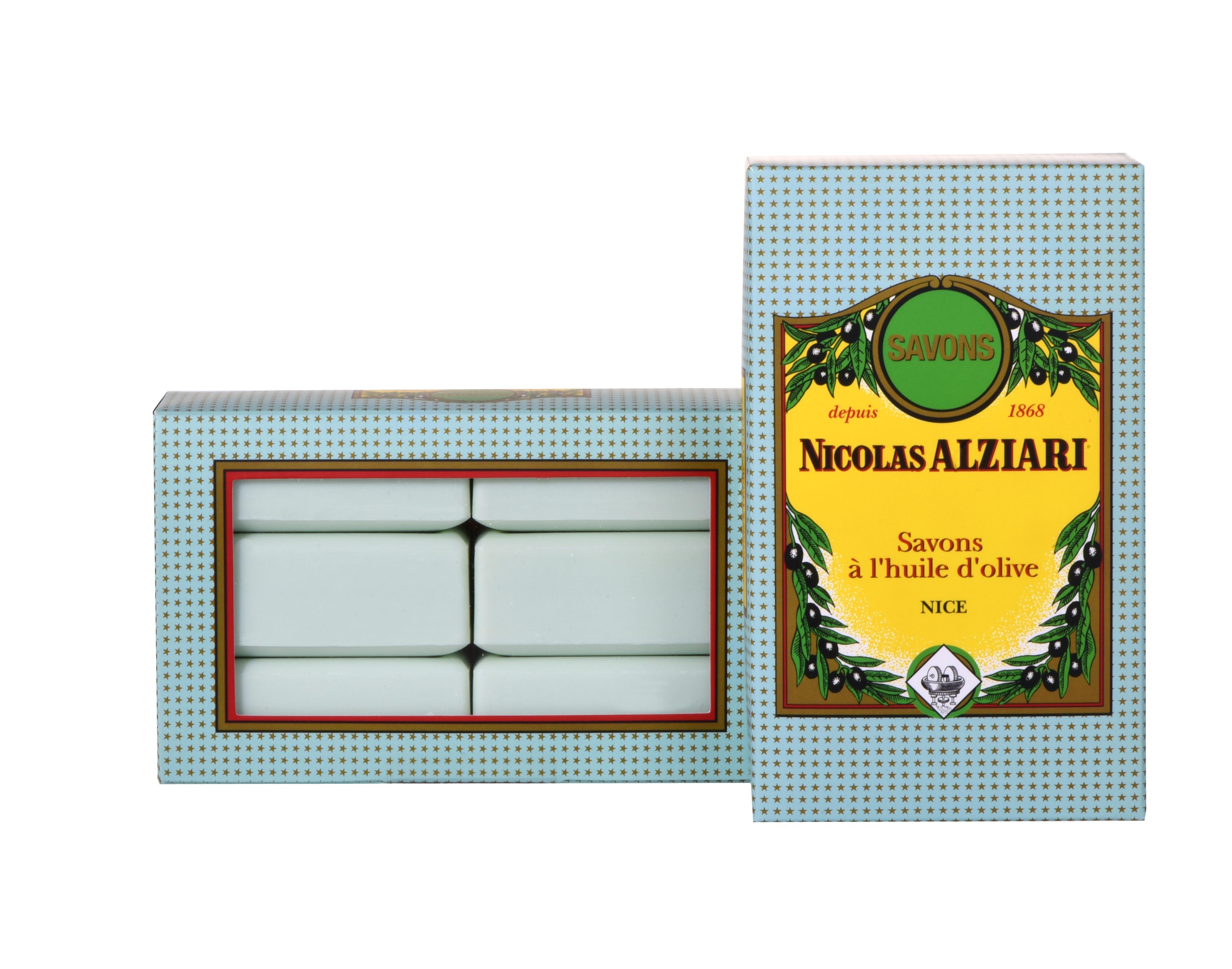 6 savons 200 gr à  l'huile d'olive parfum TILLEUL