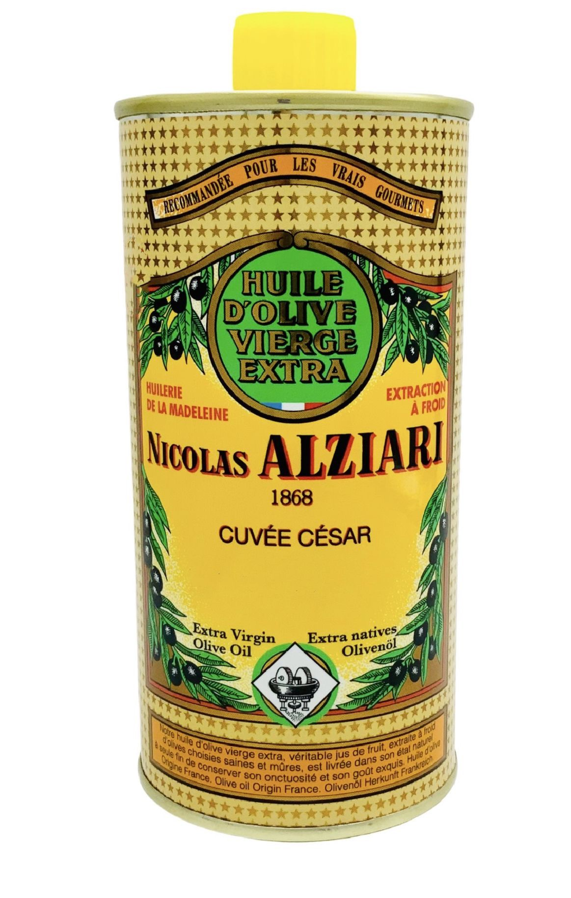 Huile d'olive Nicolas Alziari cuvée César 500 ml