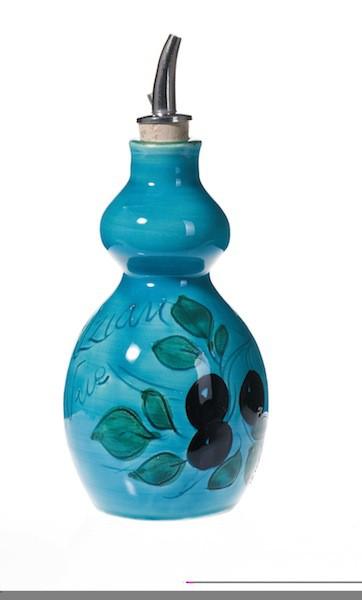 Huilier double rond 15 cm Turquoise (Poterie de Vallauris)