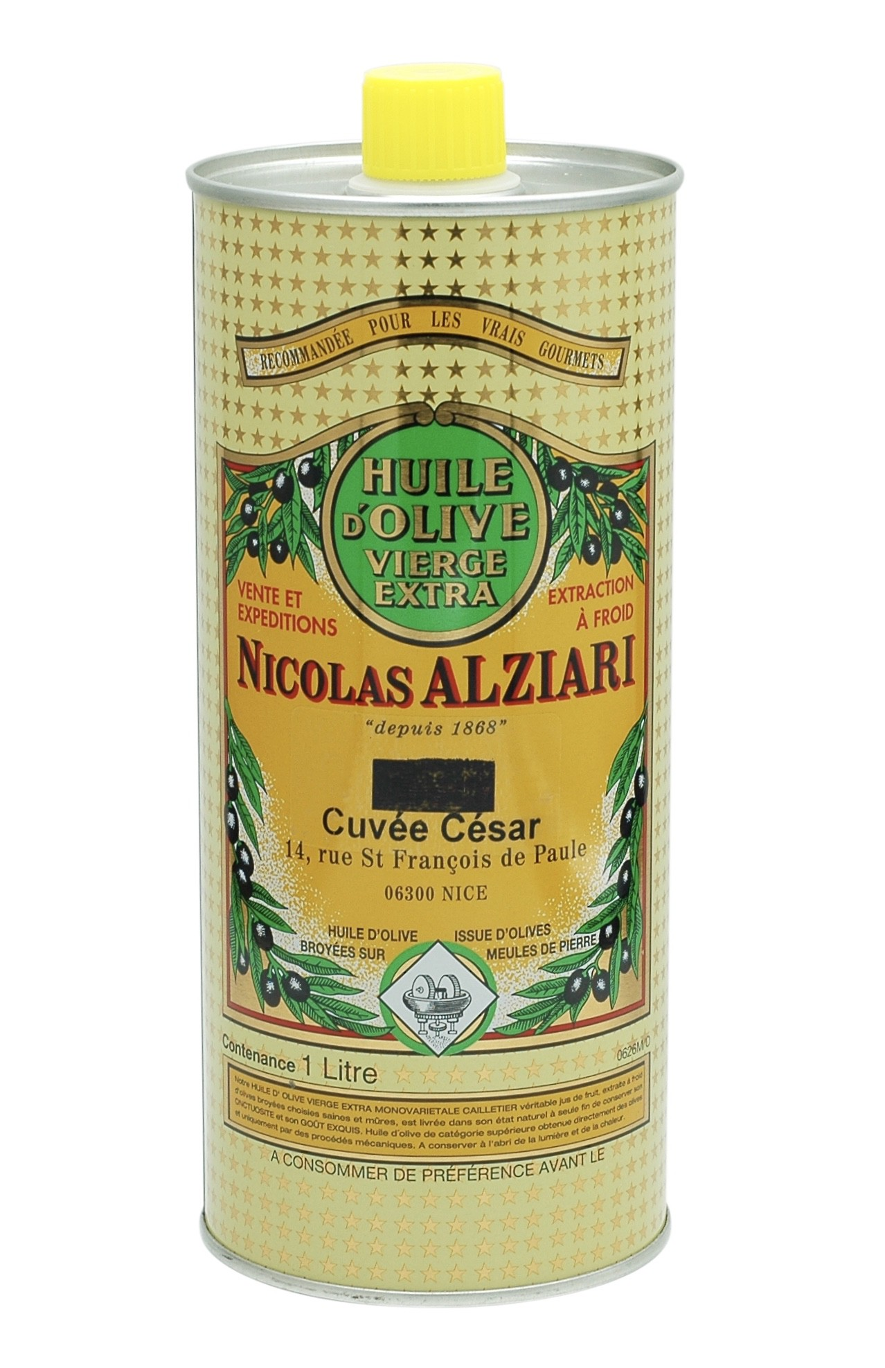 Huile d'olive Nicolas Alziari cuvée César 1 L (AOP Nice)