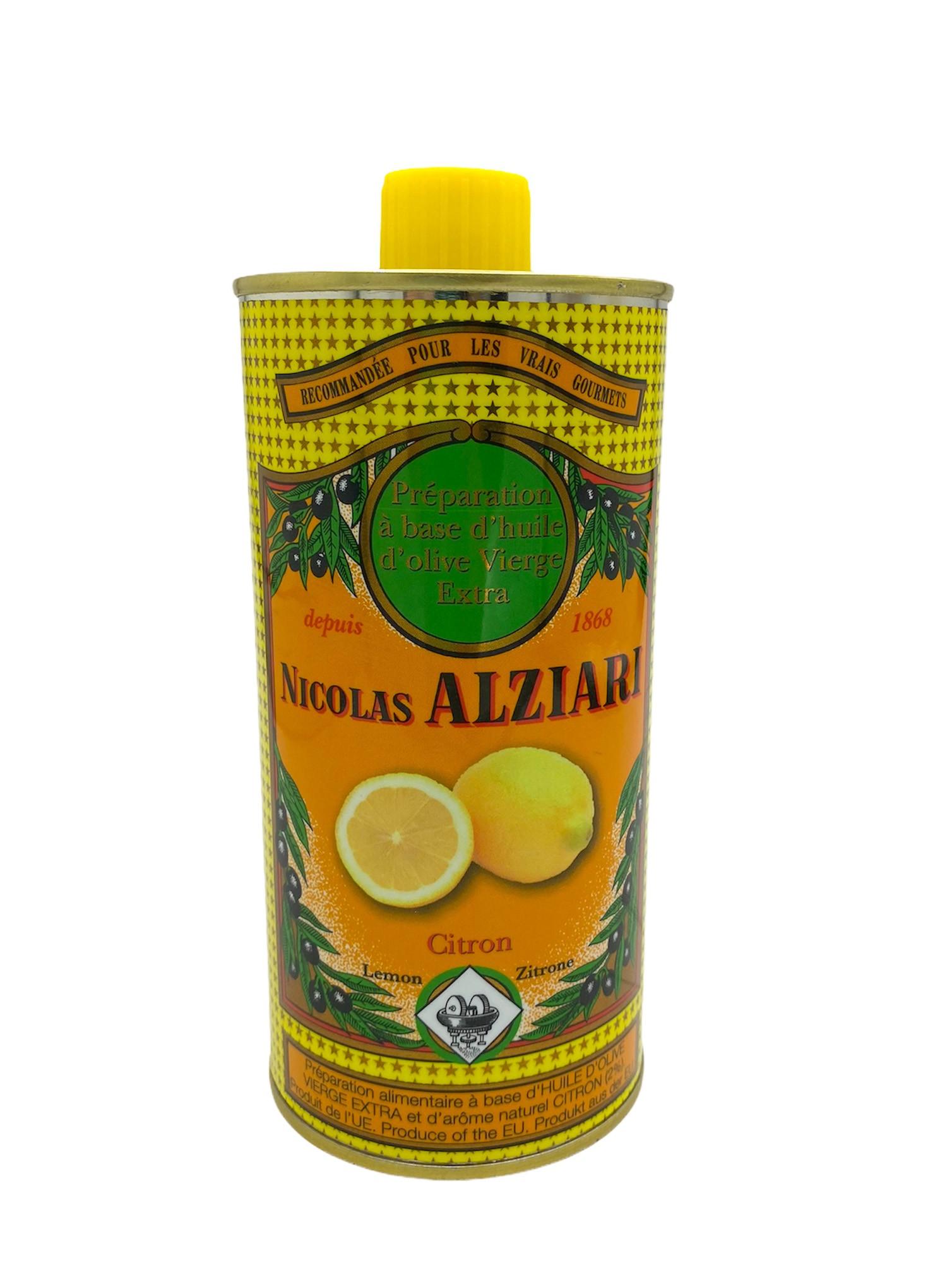 CITRON - Préparation culinaire à base d'huile d'olive et d'arôme naturel CITRON 500 ML