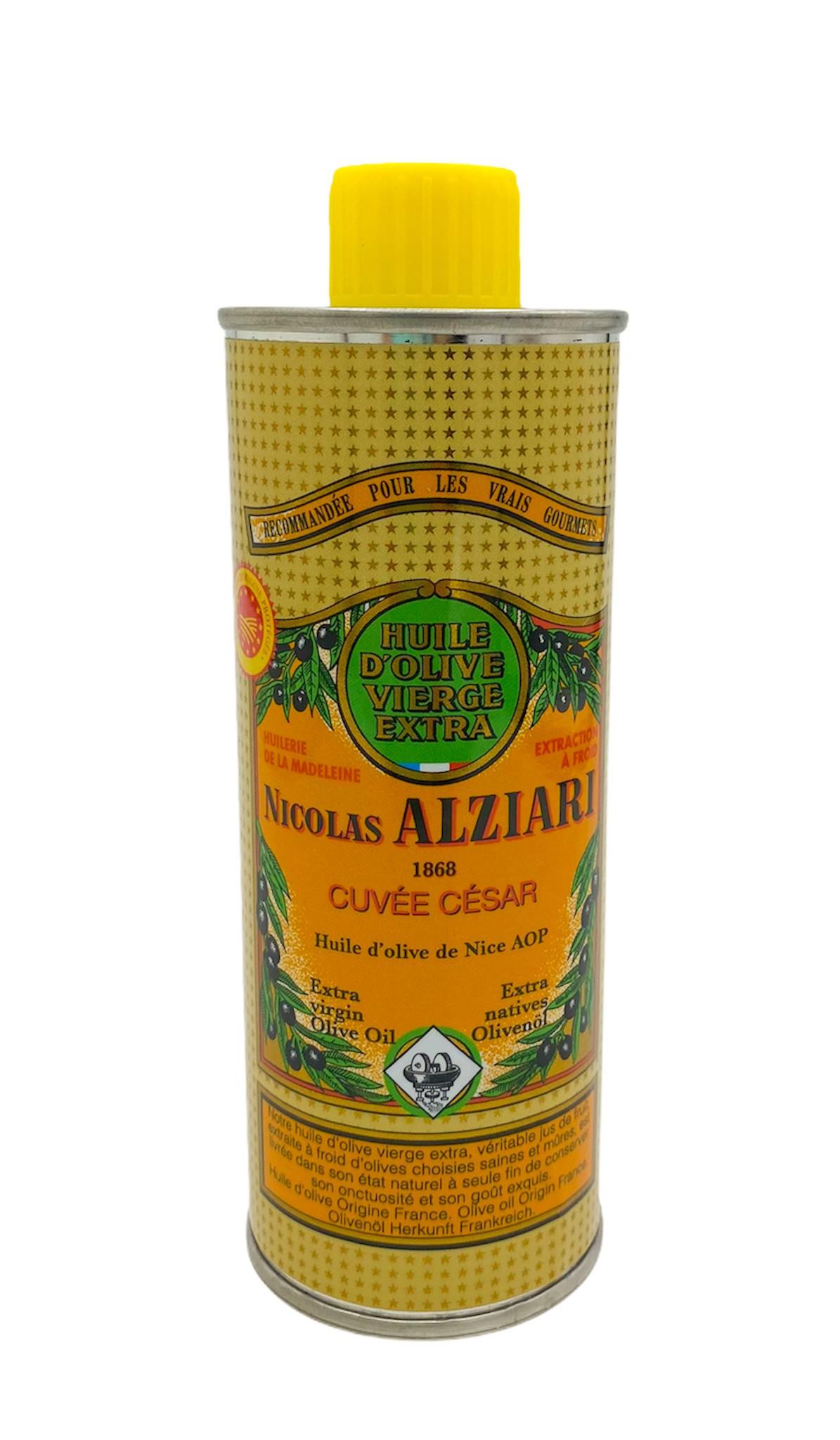 Huile d'olive Nicolas Alziari cuvée César 250 ml (AOP Nice)