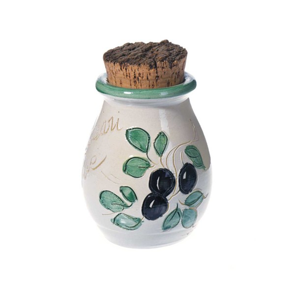 Pot à herbes blanc 10 cm (poterie de Vallauris)