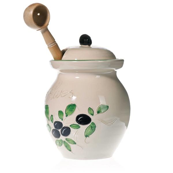 Pot à Olives blanc 20 cm (Poterie de vallauris)