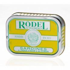 Sardines à l'huile d'olive et Citron 115gr - Rodel