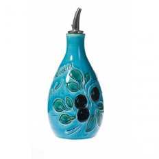 Huilier rond 15 cm Turquoise (Poterie de Vallauris)