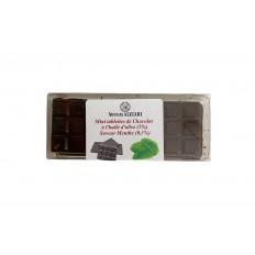 6 Mini Tablettes Chocolat à l'huile d'olive et Menthe