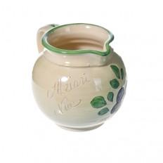 Pichet à eau Blanc (poterie de Vallauris) 14 cm