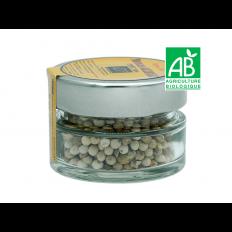 Poivre Blanc BIO en grain pot 30g