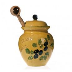 Pot à Olives jaune 20 cm (Poterie de vallauris)