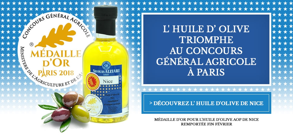 Huile d'olive Alziari triomphe au concours général agricole à Paris