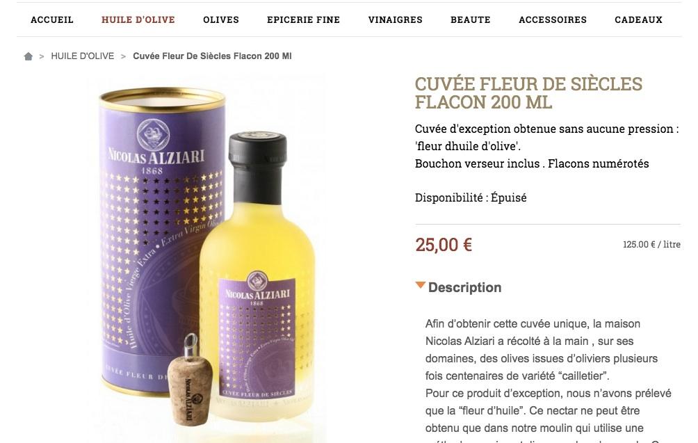 fleur d'huile d'olive